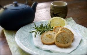 Lemon-Herb Shortbread Tea Cookies