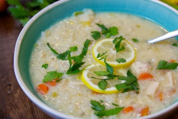 Easy Avgolemono SoupGreek Chicken Soup with Lemon and Egg