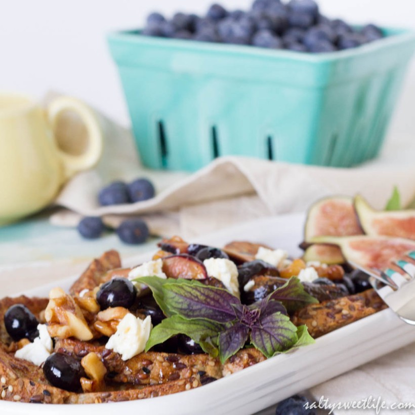 Honeyed Fig and Feta French Toast - Salty Sweet Life