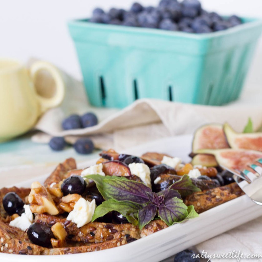 Honeyed Fig and Feta French Toast - Salty Sweet Life