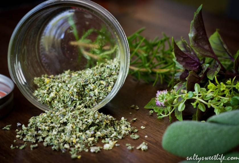 Rosemary-Thyme-Basil Herb Salt - Salty Sweet Life