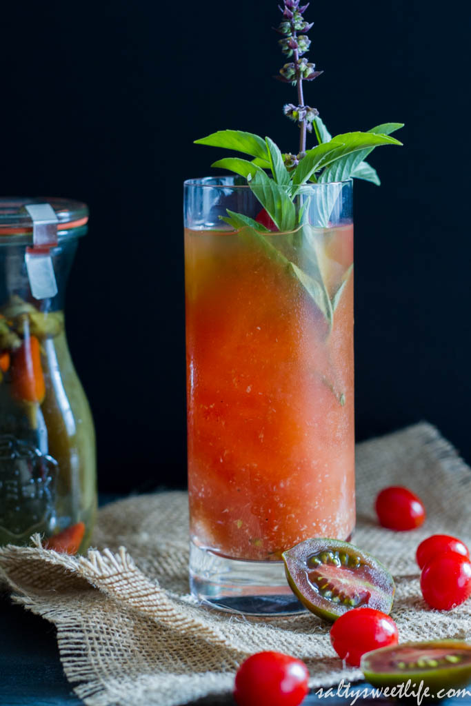Tomato Water Blood Mary - Salty Sweet Life