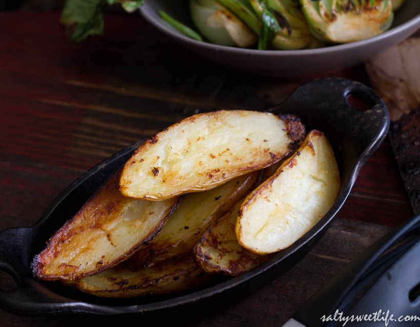 Fingerling potatoes, roasted on the grill.