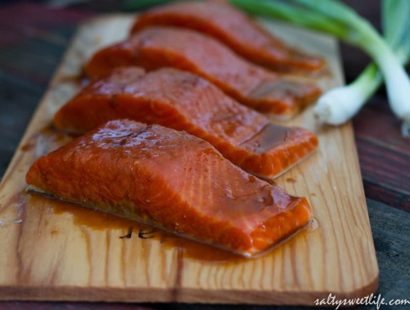 Sriracha-Ponzu Glazed Salmon - Salty Sweet Life