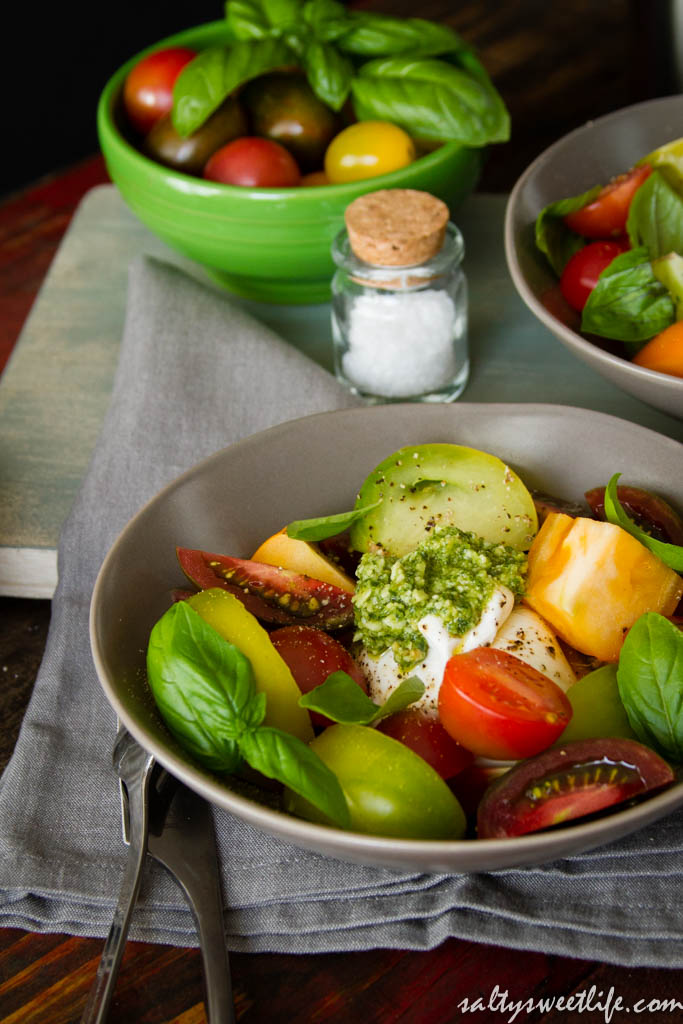 Heirloom Tomato and Burrata Caprese Salad and That Time I Broke the ...