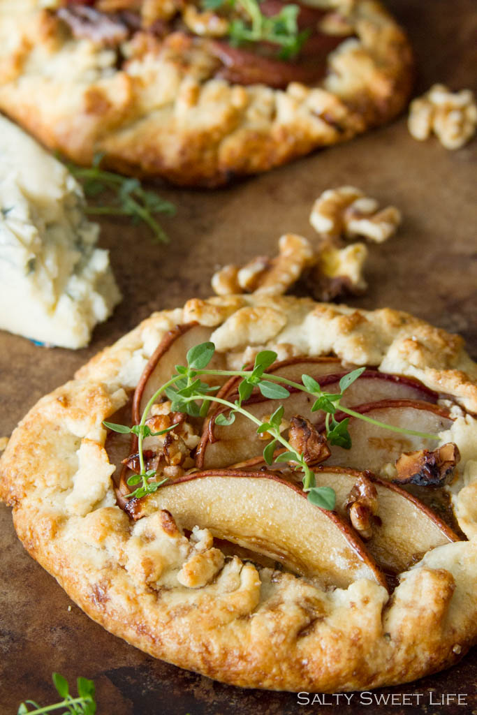 Pear, Gorgonzola and Thyme Galette and McConnell's Ice Cream - Salty Sweet Life