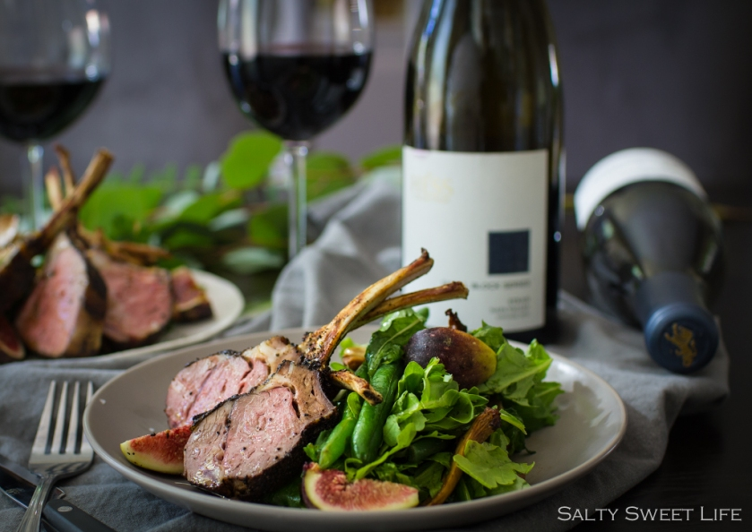Salty Sweet Life - Coffee and Herb-rubbed Lamb Chops paired with The Hess Collection Small Block Syrah